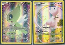 MYTHICAL MEW (XY110) & CELEBI (XY111) GENERATIONS PROMO HOLO Pokemon Cards MINT