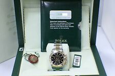 ROLEX DAYTONA 116523 18KT GOLD & STAINLESS STEEL BLACK DIAL BOX & PAPERS 2006