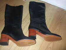 BODEN BLACK KNEE HIGH HEELED  BOOTS SIZE ==SIZE 42==8.5  BNWOB