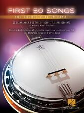 First 50 Songs You Should Play on Banjo Sheet Music Banjo Book NEW 000153311