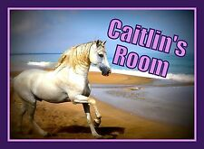 Personalised Horse Bedroom Poster A4 Any Boys Girls Name