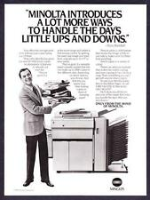 1985 Actor Tony Randall & Minolta EP 470Z Copier photo vintage promo print ad