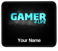 "Personalised ""Gamer 4 LIFE 'Mousemat MAT-PC/Laptop Regalo-Gaming Pad-Aggiungi Nome"