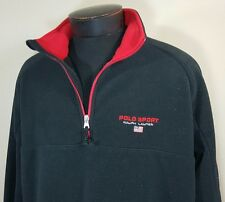 VTG Polo Sport Ralph Lauren Jacket Fleece XL Spell Out Flag 90's Bear Stadium