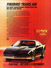 1984 Pontiac Firebird Trans Am - Original Advertisement Car Print Ad J506