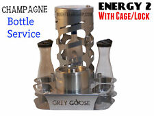 VIP CHAMPAGNE BOTTLE SERVICE DELIVERY TRAY/CADDIE w/ Bottle Lock Cage - ENERGY 2