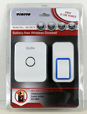 Kaito Wireless Doorbell Battery Free Door Chime with 25 Ring Tones Waterproof