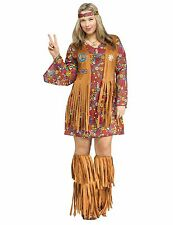 Peace and Love Hippie Groovy 60's 60s Adult Costume, Plus Size