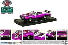 M76 11228 30 M2 MACHINE AUTO DRIVERS 1971 DODGE CHARGER R/T 383  PURPLE 1:64
