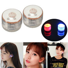 1 Pair Light Up LED Flashing Blinking Shining Magnetic Ear Studs Party Earrings