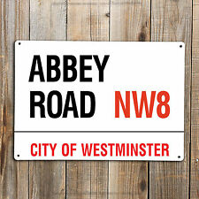 BEATLES ABBEY Road Street Sign LONDON Small Metal Plaque Gift 20CM x 15CM
