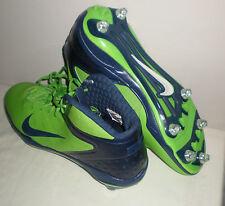 Mens NIKE Alpha Talon Elite 3/4 Detachable Football Cleats GREEN NABY BLUE 14.5