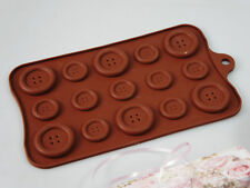 GIANT Chocolate Coat Button Buttons Silicone Mould Pan Candy Resin Soap Wax Melt