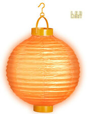 LED Lampion 30cm orange NEU - Partyartikel Dekoration Karneval Fasching