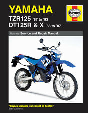 HAYNES 1655 MOTORCYCLE REPAIR MANUAL YAMAHA TZR125 1987 - 93  DT125R/X 1988 - 07