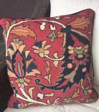 RALPH LAUREN Poet's Society Needlepoint DECORATIVE PILLOW COVER  RARE PREOWNED