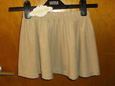 """Drappa Dot Suede-Touch Flared Elasticated Waist Skirt 5yrs L11"""" Fawn BNWT"""