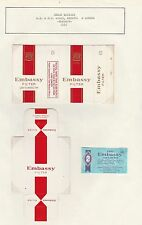 Old EMPTY cigarette packet + slide early style of Health Warning type 2 *  #016