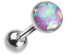 Tragus Opal Sparkle Cartilage Tragus Earring 18g 1pc