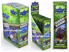 FULL BOX of 25 Packs(2 per pack) JUICY HEMP WRAPS - BLACK N' BLUEBERRY Flavored