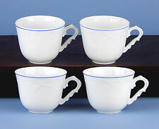 Set of 4 Cups (8 oz.) SUPERB! Manueline Blue, Vista Alegre, Portugal