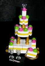 LEGO Custom Wedding Cake Bride Groom Wine Town Hall 10224 Pastry Friend Bakery