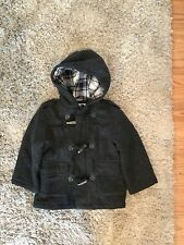 Boys Children's Place Gray Wool Coat Size 4T