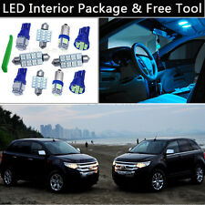 8PCS Bulbs Ice Blue LED Interior Light Package kit Fit 2007-2013 Ford Edge J1