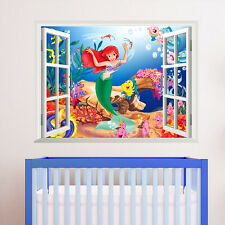 Cartoon THE LITTLE Mermaid  Window stickers kids nursery decoration Wall Decals