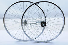 PAIR 26 x 1.75 (559) CHROME WHEELS WITH PEDAL BACK BRAKE COASTER BRAKE REAR HUB
