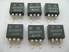 DIODES INCORP SBG104CT Diode Schottky 40V 10A D2PAK - Lot of 6 Pieces TESTED