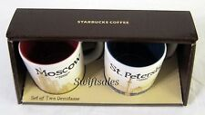 Starbucks Coffee Russia - Moscow & St. Petersburg 3 oz Demitasse Set - US Seller