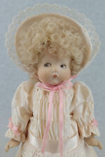 "9"" antique reproduction bisque German Armand Marseille JUST ME character doll"