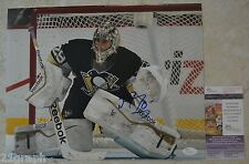 Marc-Andre Fleury Signed 11x14 w/ JSA COA #M93330 Pittsburgh Penguins