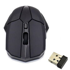 2.4GHz Wireless Optical Mouse Mice + USB 2.0 Receiver for PC Black  WK