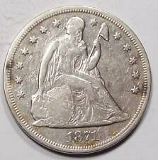 1871-P SEATED LIBERTY  DOLLAR~F++ ~Old Cleaning ~Free US Ship