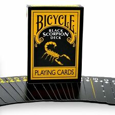 Black Scorpion Playing Cards - MM Bicycle Black Scorpion Deck - USA Made
