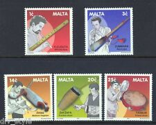 Musical Instruments set of 5 stamps mnh 2001 Malta #1056-60