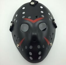 Friday The 13th Jason Voorhees Mask Black w Red Accents Hockey Mask Replica