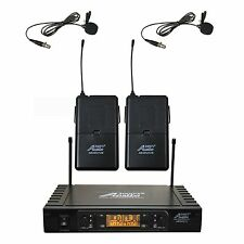 Audio2000's 6527UM UHF 100 Frequency Lapel Lavalier Wireless Microphone System