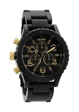 AUTHENTIC NIXON 42-20 CHRONO WATCH MATTE BLACK/GOLD A037 1041 NEW! A0371041