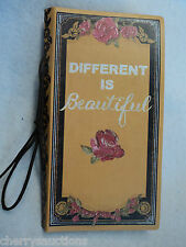 m DIFFERENT IS BEAUTIFUL BRAVE GIRL unlined 72 page kraft JOURNAL blank book