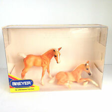 Breyer Traditional Amber and Ashley Twin Palomino Foals In Original Box
