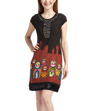 Aryeh Black & Red  Nesting Dolls Cup - Sleeve   Dress Size L ( 8 ) NWT