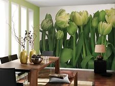 TULIPS Photo Wallpaper Wall Mural GREEN FLOWERS - Made in Germany! 368x254cm