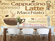 Seamless Coffee Themed  Wall Mural Photo Wallpaper GIANT WALL DECOR PAPER POSTER