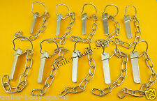 FREE 1st Class Post - 10 x Flat Sword Cotter Pin & Chain - Trailer and Horse Box