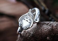 My Neighbor Totoro Ring 925 Sterling Silver Adjustable