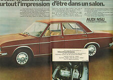 Publicité Advertising 1971  (Double page)  AUDI 100 LS