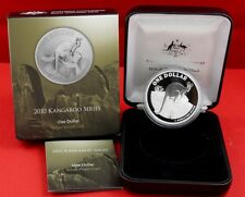 """$ 1 Silver Kangaroo """" Yellow-Footed Rock-Wallaby """" Proof Coin 2010"""